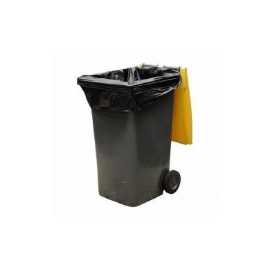 Housse container 340 Litres Noir - Colis de 100