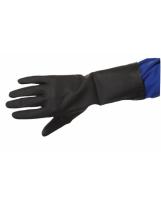 Gant néoprène noir flocké coton - Sachet de 10 paires