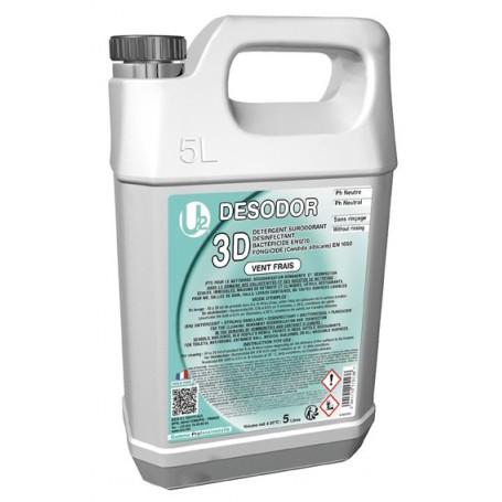 3D Détergent désinfectant surodorant Vent Frais - Bidon de 5L