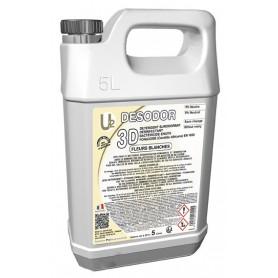 3D Détergent désinfectant surodorant Fleurs Blanches - Bidon de 5L