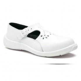 Chaussure femme à sangle EVA BLANC S1P - La paire