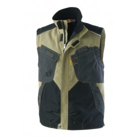 Gilet matelassé Out Force 2R beige et carbone