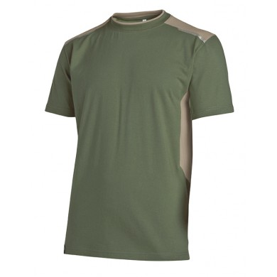 Tee-shirt Out Force 2R kaki et beige - Lot de 3