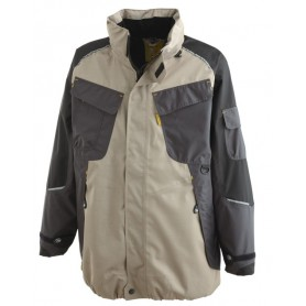 Veste technique Out Force 2R beige et noir