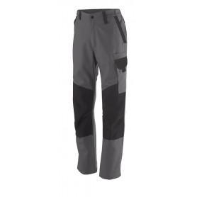 Pantalon technique avec poches genoullières Out Sum gris charcoal et noir