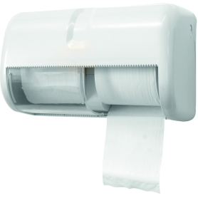 Distributeur horizontal pour 2 rouleaux de papier hygiénique standard