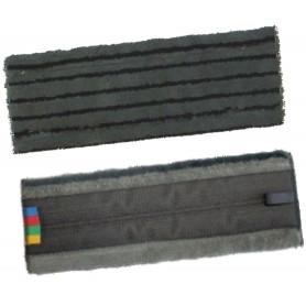Frange microfibre grise velcro à molletons avec bandes abrasives