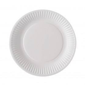 Assiette ronde en carton diam 15cm blanche - Colis de 2000