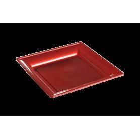 Assiette thermoformée carrée cerise 18cm - Colis de 192