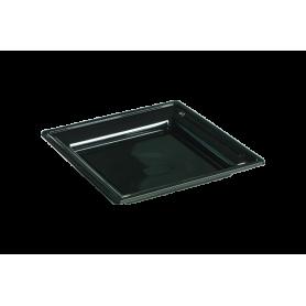 Assiette thermoformée carrée noire 18cm - Colis de 192