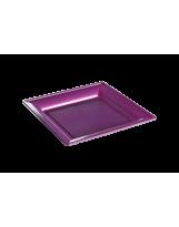 Assiette thermoformée carrée fushia 18cm - Colis de 192