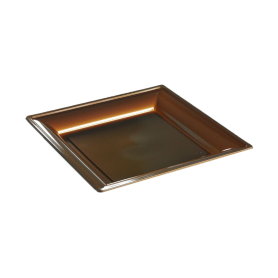 Assiette thermoformée carrée chocolat 18cm - Colis de 192