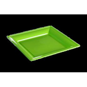 Assiette thermoformée carrée anis 18cm - Colis de 192