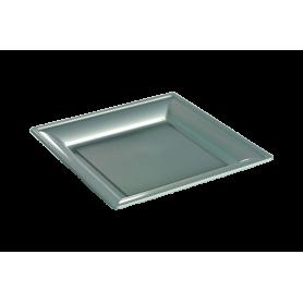 Assiette thermoformée carrée argent 18cm - Colis de 192