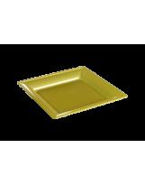 Assiette thermoformée carrée or 18cm - Colis de 192