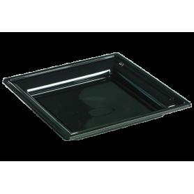 Assiette thermoformée carrée noire 24cm - Colis de 192