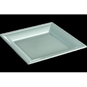 Assiette thermoformée carrée blanche 24cm - Colis de 192