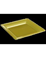 Assiette thermoformée carrée or 24cm - Colis de 192