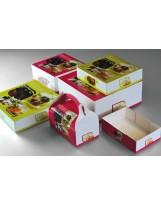 Boîte pâtissière décor 20x20x8 - Colis de 50