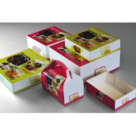 Boîte pâtissière décor 32x32x8 - Colis de 25