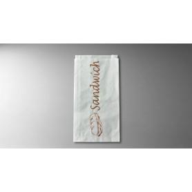 Sac sandwich kraft blanc 120+30x300 - Colis de 1000