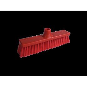 Balai HACCP droit fibre souple 30cm rouge