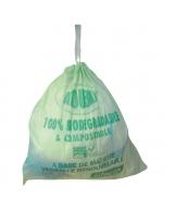 Sac type 130L soudure étoile vert biodégradable 820x1150 - Colis de 100