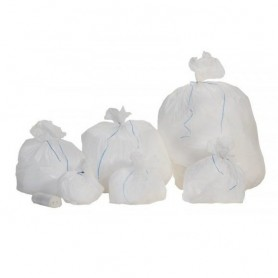 Sac poubelle 30L blanc HD - Colis de 500