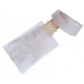 Gant de toilette jetable viscose blanc 16x22cm - Colis de 1000