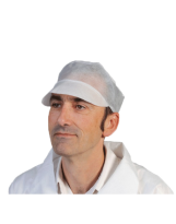 Casquette PLP blanche - Carton de 1000