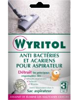 Désodorisant aspirateur anti-acariens Wyritol - Blister de 3 sachets