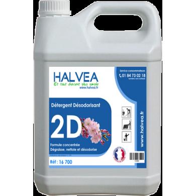 2D - Détergent désodorisant Parfum Floral - Bidon de 5L