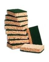 Eponge récurant vert grand modèle - Lot de 10