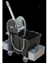 Chariot de lavage DAM avec presse + 2 cassettes porte produits