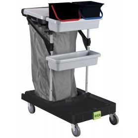 Chariot de ménage Intégral1 avec porte sac, 2 seaux 6L et porte produit