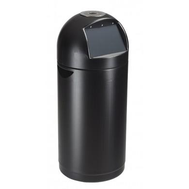 Poubelle Rossignol 52l Cyvomax avec cendrier en plastique noir