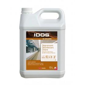 Dégraissant désinfectant chloré moussant IDOS D'CHLORE - Bidon de 5L