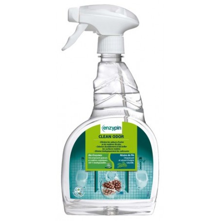 ENZYPIN Clean Odor - Odorisant enzymatique parfum Menthe Eucalyptus - Flacon de 750ml