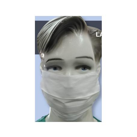 Masque alternatif AFNOR coton à élastiques - Lot de 10