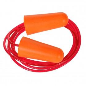Bouchon anti-bruit en mousse PU avec cordon - Boîte de 200 paires