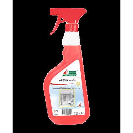 Détartrant désinfectant liquide pour les sanitaires, APESIN sanfizz - Flacon de 750 ml