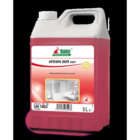 Détartrant désinfectant liquide pour les sanitaires, APESIN san - Bidon de 5 Litres