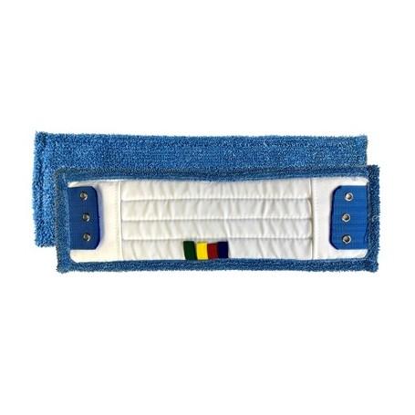 Frange microfibre lavante 40cm à poches et langettes 3 oeillets