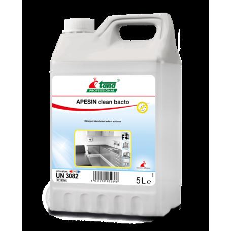 Détergent désinfectant virucide Apesin Clean Bacto - Bidon de 5 Litres
