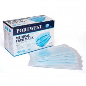 Masque Médical de Type IIR, Emballé individuellement - Boite de 50