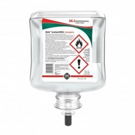 Gel main hydroalcoolique DEB  Instant Gel, cartouche 1L - Colis de 6 cartouches