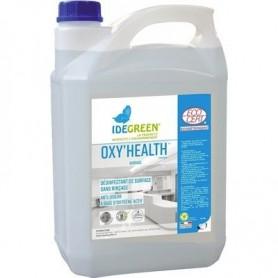 Désinfectant de surface - sans rinçage - anti-odeurs - Déterquat Oxy'Health - Bidon de 5L