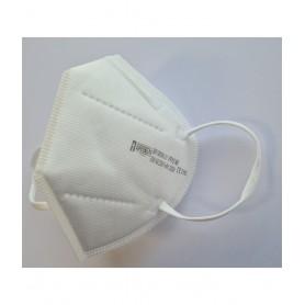 Demi-masque filtrant blanc sans valve pliable FFP2 NR - Paquet de 10