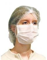Masque 2 plis élastique blanc - Boite de 50