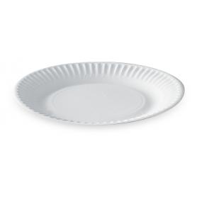 Assiette ronde en carton diam 15cm blanche - Colis de 1000